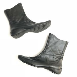 Paul Green Leather Boots Square Toe UK 7 / US 9.5